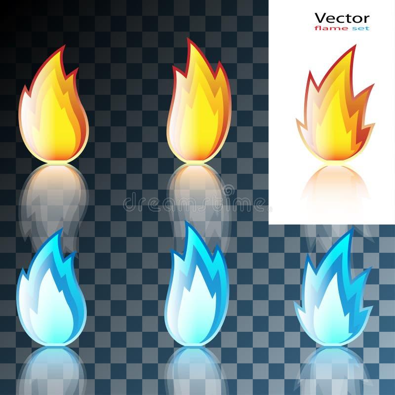 Abstrakcjonistycznej rewolucjonistki i Błękitnego płomienia ikona ilustracji