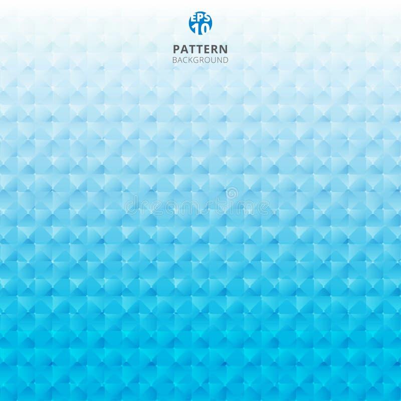 Abstrakcjonistycznej siatki wzoru 3d koloru geometryczny błękitny tło ilustracja wektor