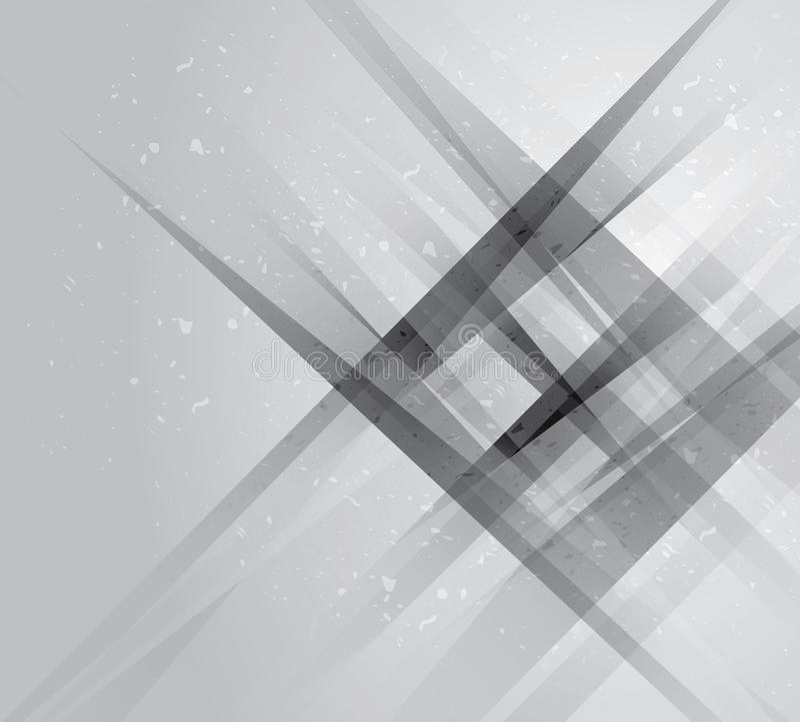 Abstrakcjonistycznej szarej techniki korporacyjnego projekta geometryczny tło EPS10 szarość, abstrakcjonistyczny geometryczny tło ilustracji