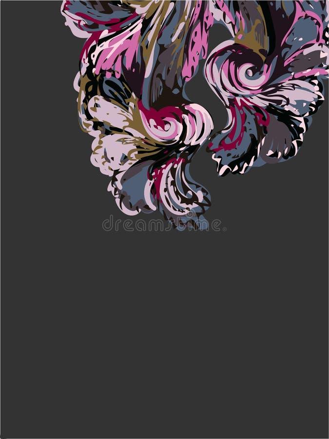 Abstrakcjonistycznej sztuki farby tła wektorowe ciemne purpury ilustracji