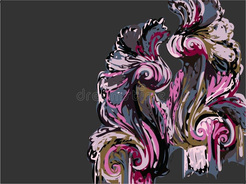 Abstrakcjonistycznej sztuki farby tła wektorowe ciemne purpury ilustracja wektor