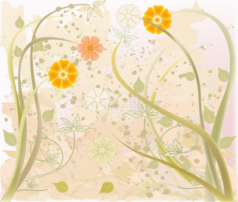 Abstrakcjonistycznej sztuki kwiecisty wektor fotografia stock