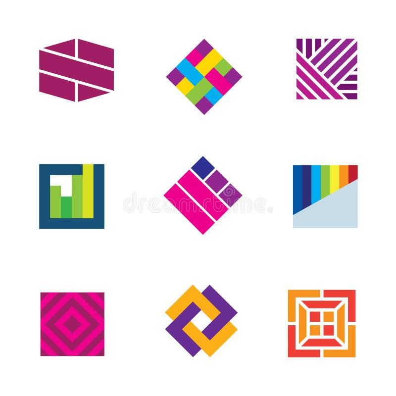 Abstrakcjonistycznej sztuki loga szablonu symbol był różnym dekoraci ikoną ilustracji