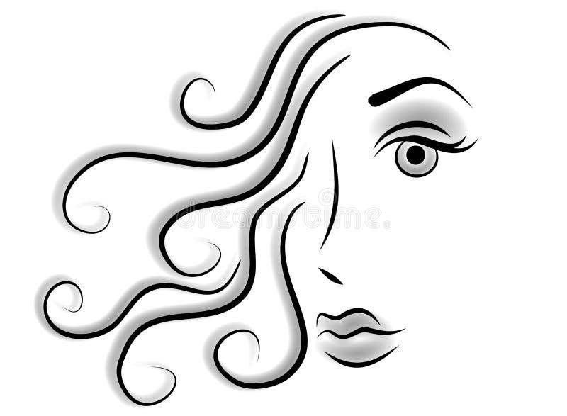 abstrakcjonistycznej sztuki magazynki twarz kobiety royalty ilustracja