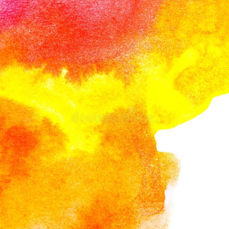 Abstrakcjonistycznej sztuki nafciany kolor Pomarańcze, kolor żółty ilustracja wektor