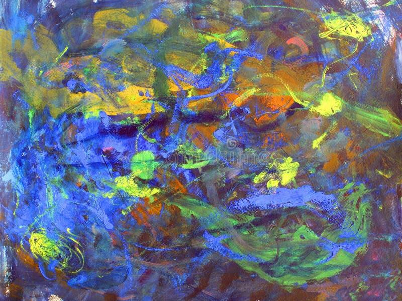 abstrakcjonistycznej sztuki tła głęboka przestrzeń ilustracja wektor