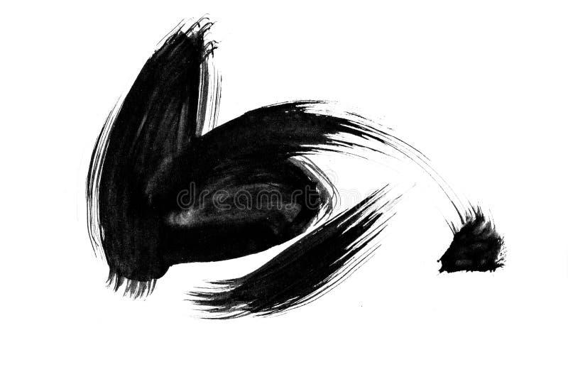 Abstrakcjonistycznej sztuki tła: Ręcznie malowany szczotkarscy uderzenia i spl ilustracja wektor