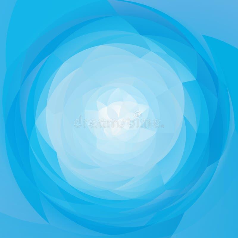 Abstrakcjonistycznej sztuki zawijasa geometryczny tło - nieba błękita bielu kolory barwili ilustracja wektor