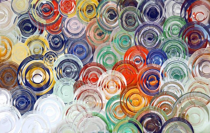 Abstrakcjonistycznej sztuki zawijasa kolorowy tło & tapeta ilustracja wektor