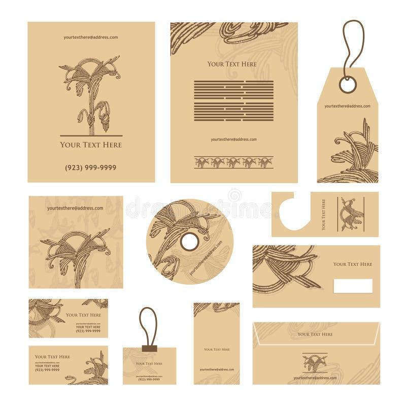 abstrakcjonistycznej tła wizytówki korporacyjny projekt Wektorowi szablony ilustracja wektor