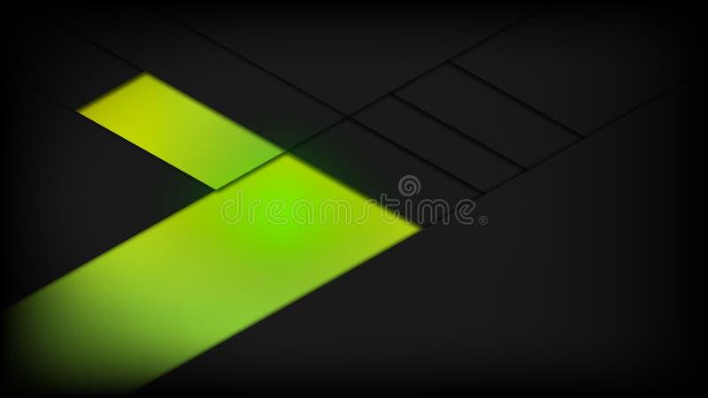 Abstrakcjonistycznej tło zieleni czarnej władzy gym sprawności fizycznej wektorowy projekt royalty ilustracja