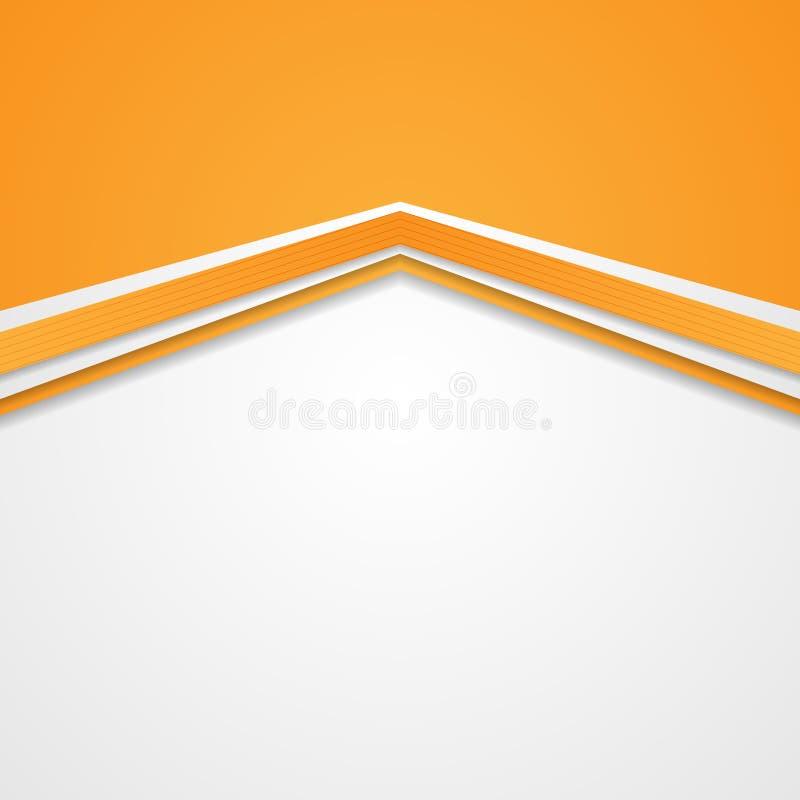 Abstrakcjonistycznej techniki korporacyjny pomarańczowy tło ilustracja wektor