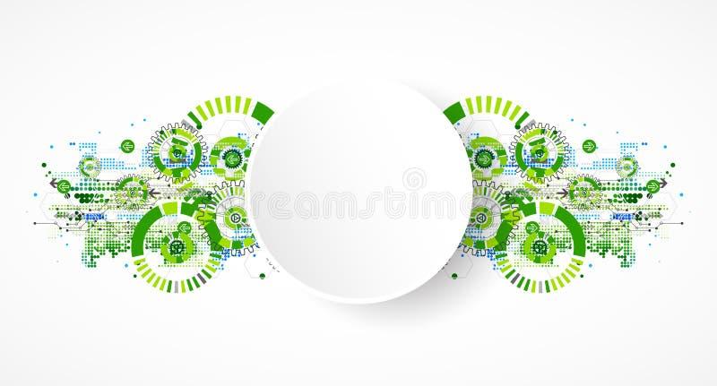Abstrakcjonistycznej technologia biznesu zieleni szablonu barwiony tło ilustracji