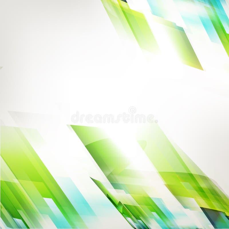 Abstrakcjonistycznej technologii świeży zielony diagonalny tło ilustracja wektor