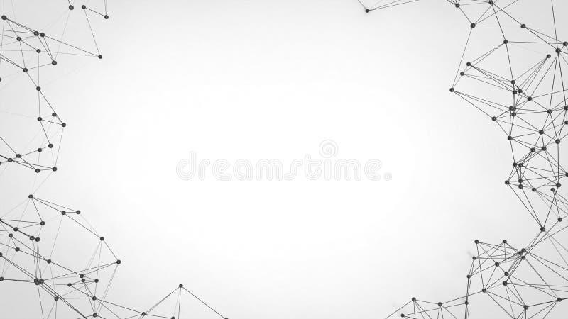 Abstrakcjonistycznej technologii futurystyczna sieć - plexus tło obraz royalty free