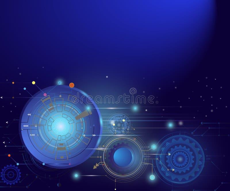 Abstrakcjonistycznej technologii obwodu futurystyczna deska, technika komputeru d royalty ilustracja