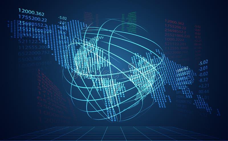 Abstrakcjonistycznej technologii sieci światowy cyfrowy kulisowy związek i ma ilustracji