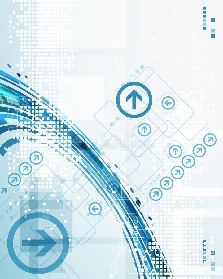 Abstrakcjonistycznej technologii szablonu biznesowy tło ilustracja wektor