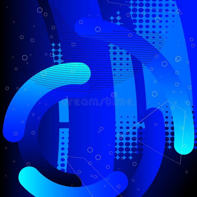 Abstrakcjonistycznej technologii techniki pojęcia cyfrowy tło cześć ilustracja wektor