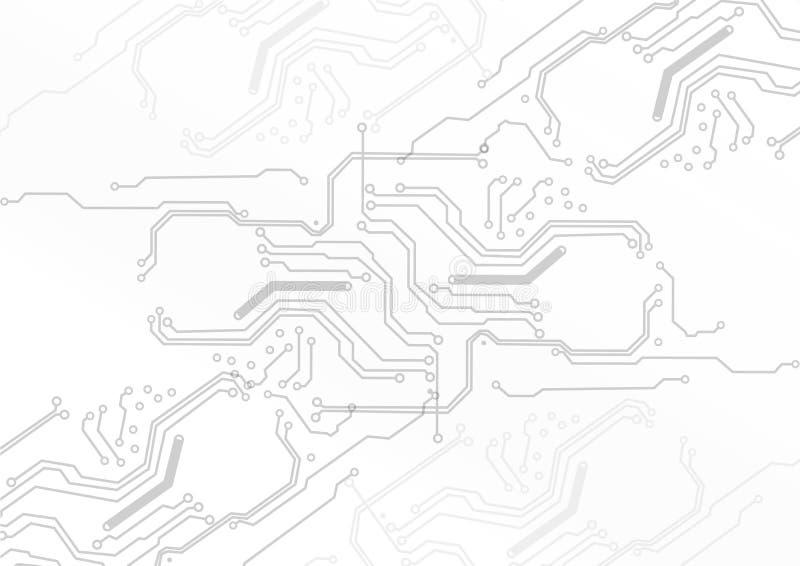 Abstrakcjonistycznej technologii wektorowy obwód na białym tle obrazy stock
