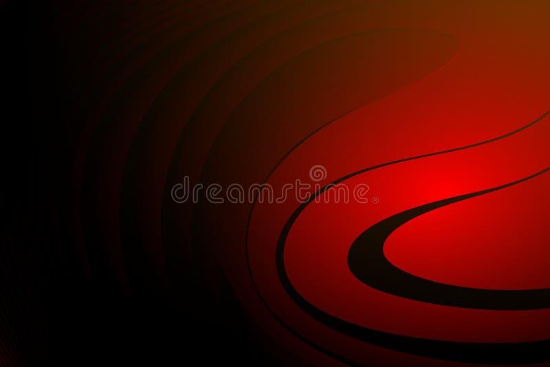 Abstrakcjonistycznej wektorowej czerwieni t?a ocieniona falista tapeta ?ywa koloru wektoru ilustracja ilustracja wektor