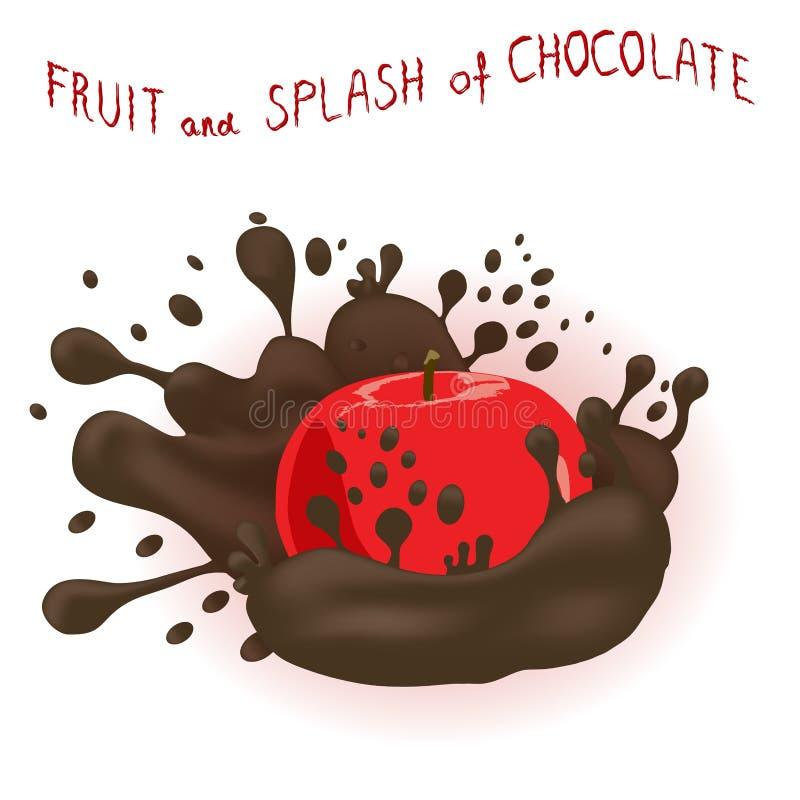 Abstrakcjonistycznej wektorowej ikony ilustracyjny logo dla całego dojrzałego owocowego jabłka royalty ilustracja