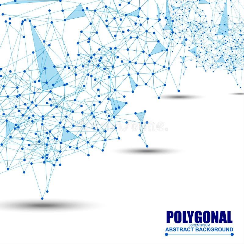 Abstrakcjonistycznej wireframe siatki poligonalny tło ilustracja wektor