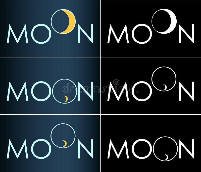 Abstrakcjonistycznej wpisowej księżyc półksiężyc biznesowy logo zdjęcia stock