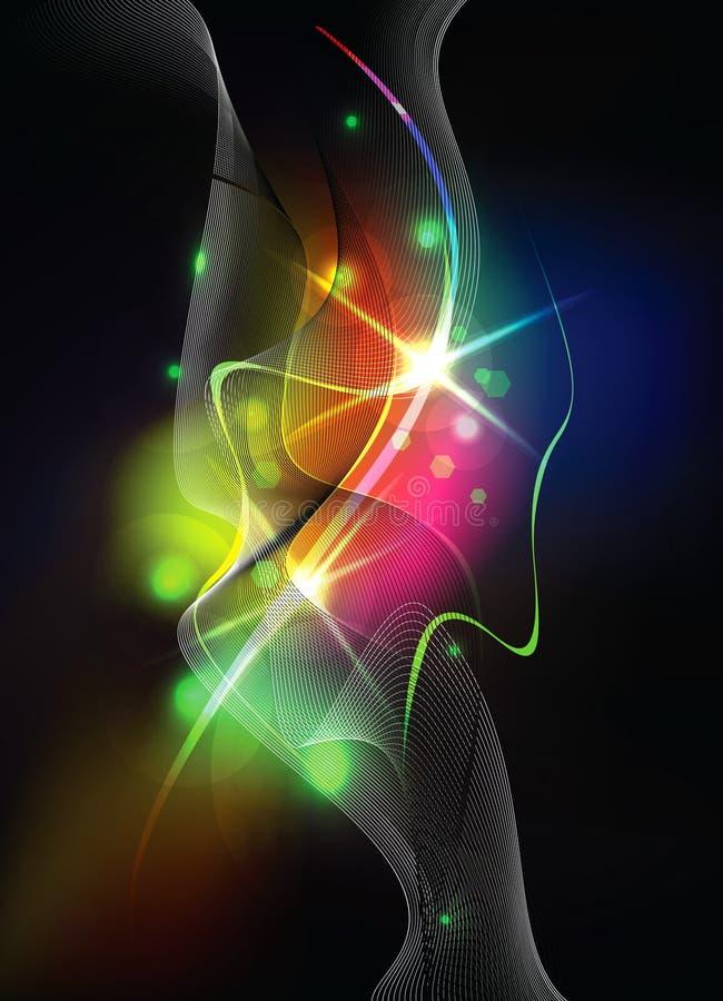 Download Abstrakcjonistyczni światła Ilustracja Wektor - Ilustracja złożonej z plama, dekoracje: 13325948