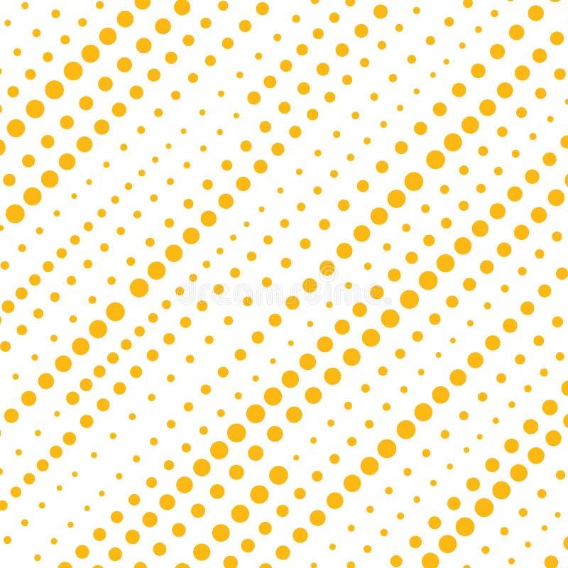 Abstrakcjonistyczni żółci kropkowani lampasy diagonally deseniują odosobnionego na wh ilustracja wektor