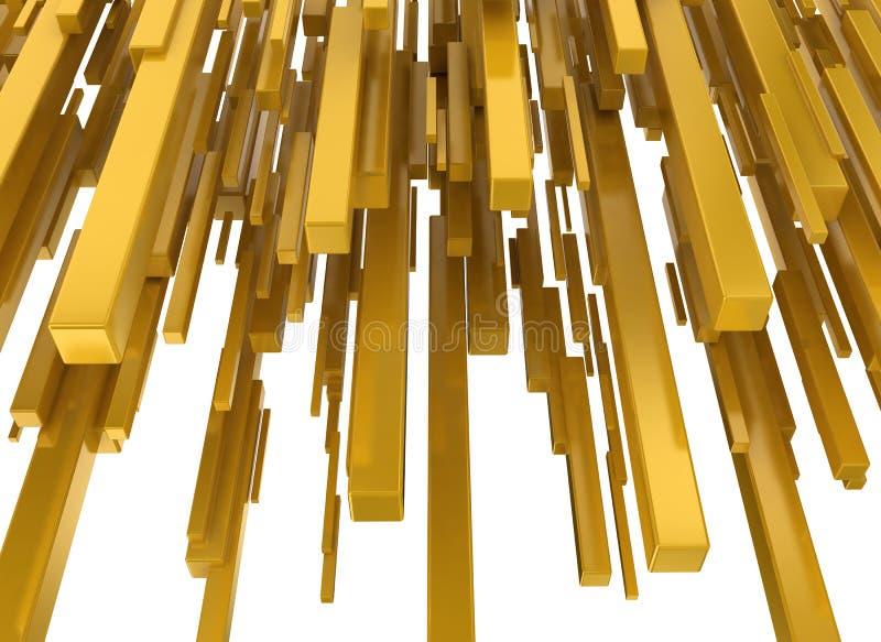Abstrakcjonistyczni żółci kruszcowi bloki ilustracji