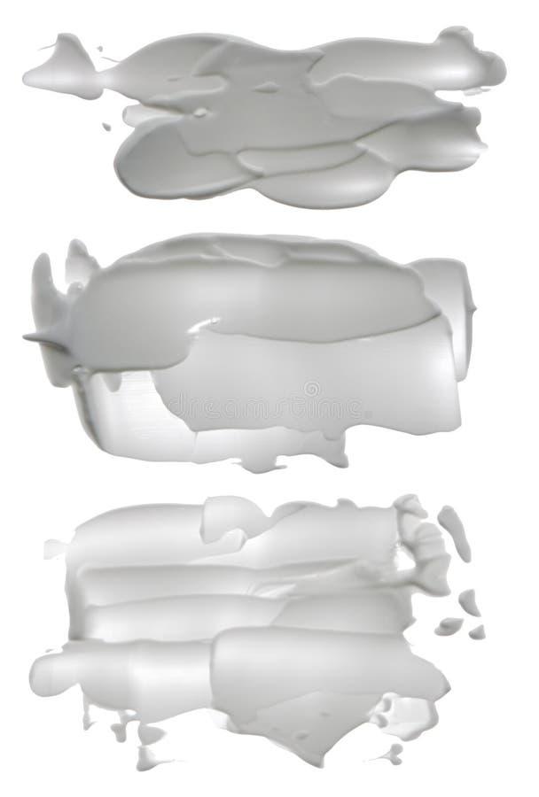 Abstrakcjonistyczni akrylowi muśnięć uderzeń kleksy obraz royalty free