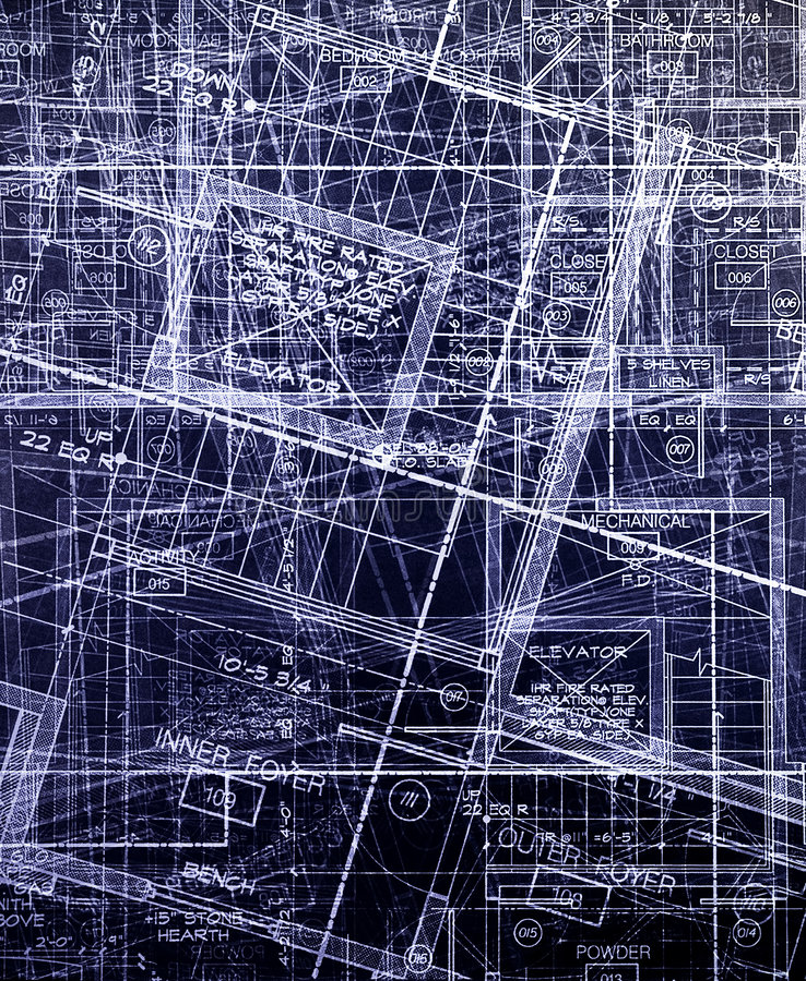 abstrakcjonistyczni archecture plany obrazy royalty free