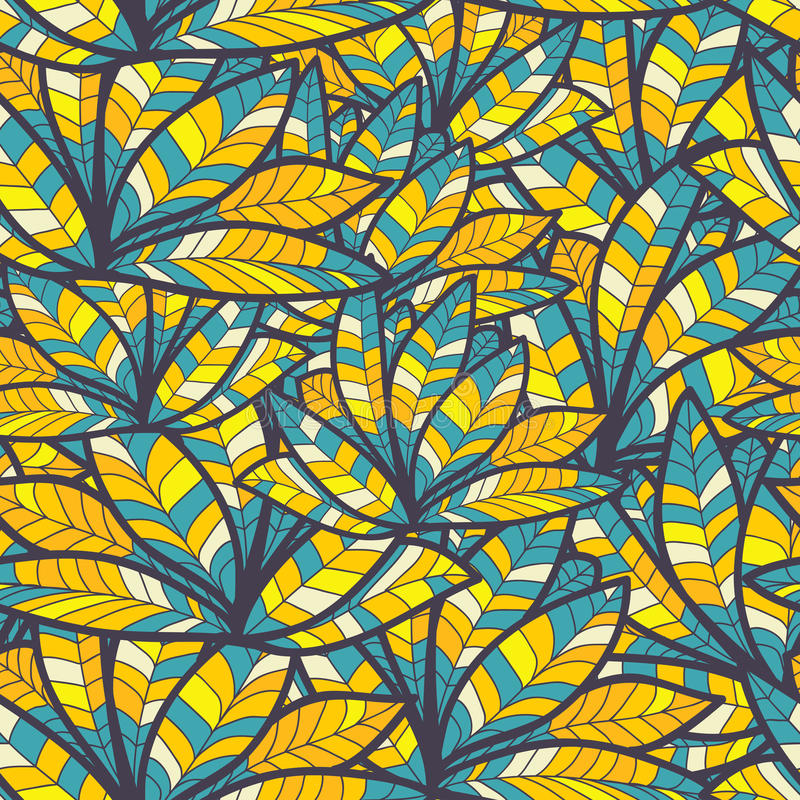 Abstrakcjonistyczni błękitów piórka. jaskrawa bezszwowa tekstura ilustracji