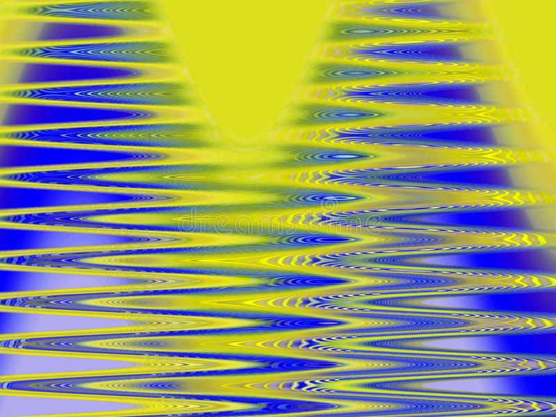 Abstrakcjonistyczni błękitni żółci iskrzaści szklani światła, geometrii tło, grafika, abstrakcjonistyczny tło i tekstura, ilustracji