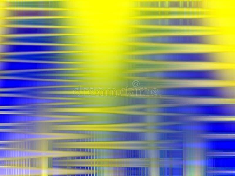 Abstrakcjonistyczni błękitni żółci lśnień światła, geometrii tło, grafika, abstrakcjonistyczny tło i tekstura, royalty ilustracja