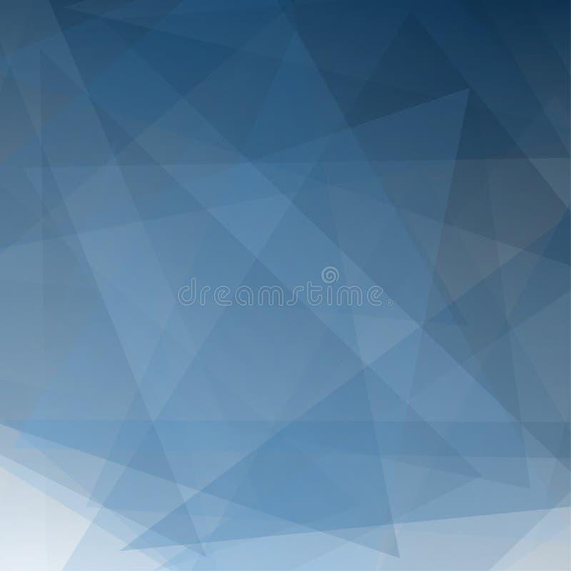Abstrakcjonistyczni błękitni gradientowi perspektywiczni geometryczni kształty pokrywają się na białym tle ilustracja wektor