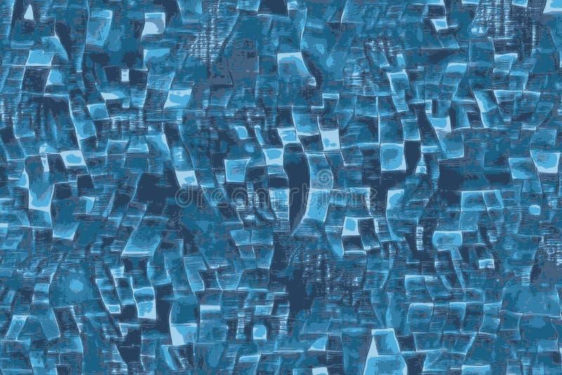 Abstrakcjonistyczni błękitni parawanowi okno w technologia świacie ilustracja wektor