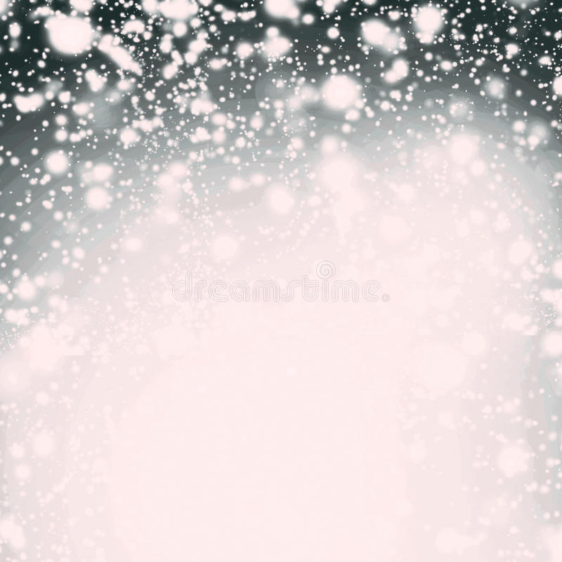Abstrakcjonistyczni błyskotliwość światła, gwiazdy i błękitny i biały iskrzasty vint zdjęcia stock