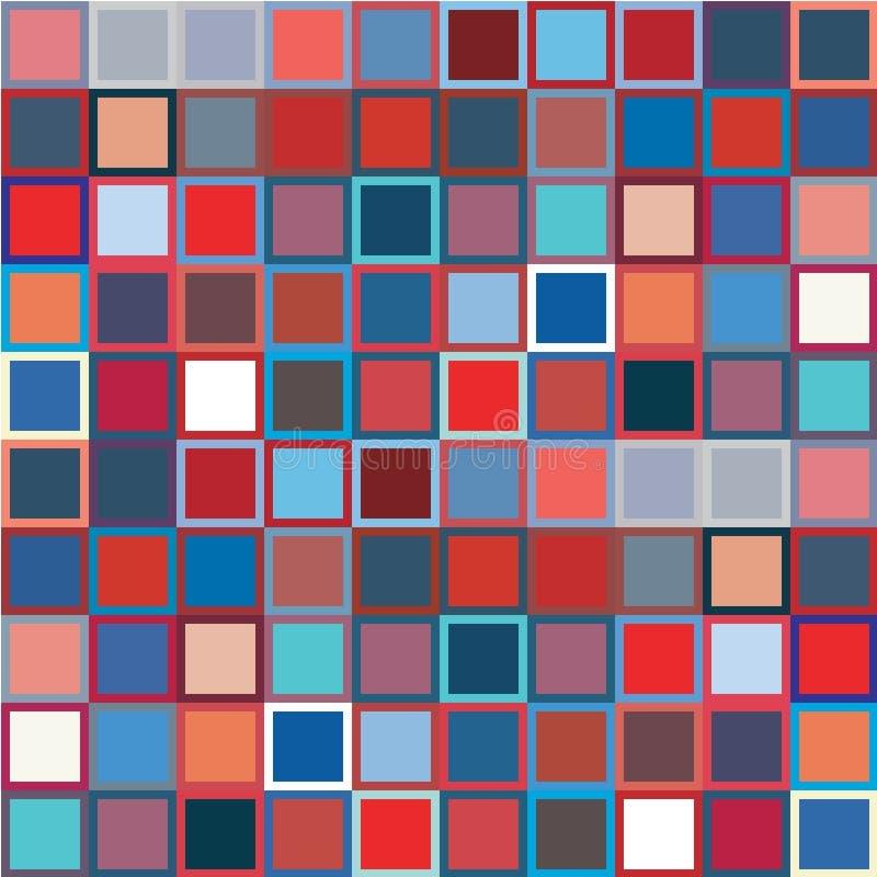 Abstrakcjonistyczni Bezszwowi usa barwią stylowego art deco kratownicy wektoru wzór royalty ilustracja