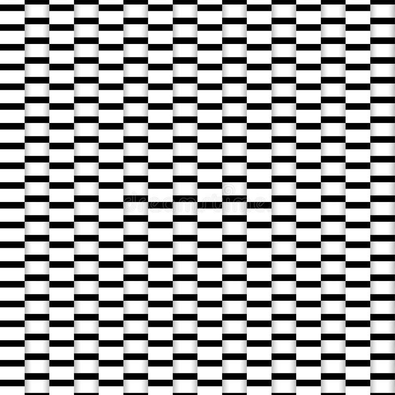 Abstrakcjonistyczni bezszwowi złudzenie papieru lampasy ilustracja wektor