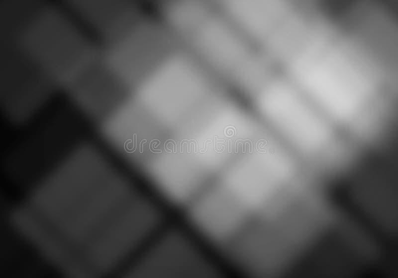 Abstrakcjonistyczni biali rozmyci kwadraty fotografia royalty free