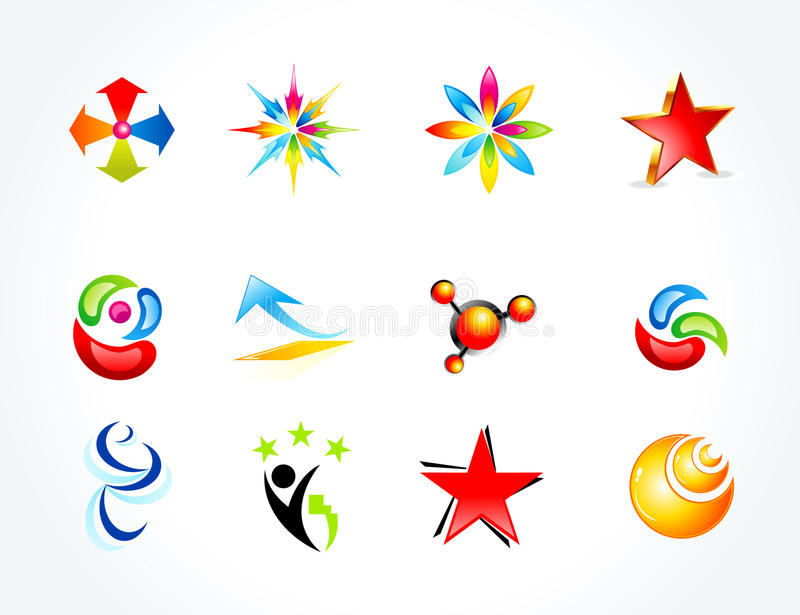 abstrakcjonistyczni biznesowi kolorowi wieloskładnikowi szablony ilustracji