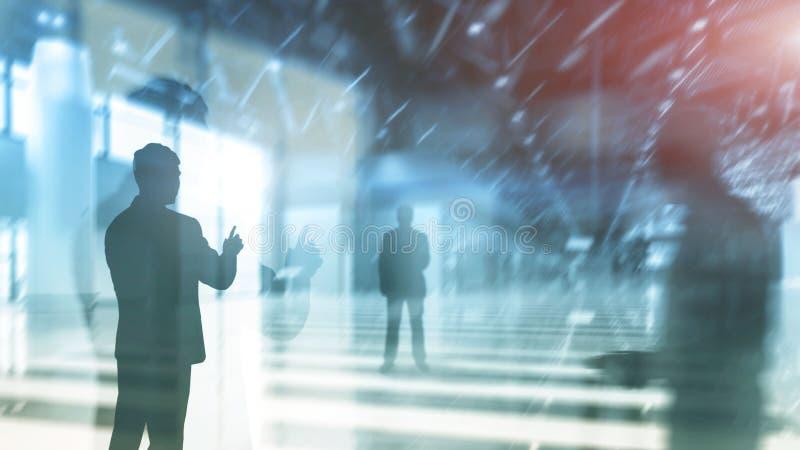 Abstrakcjonistyczni biznesowi tła, ludzie na biurowym tle zdjęcie royalty free