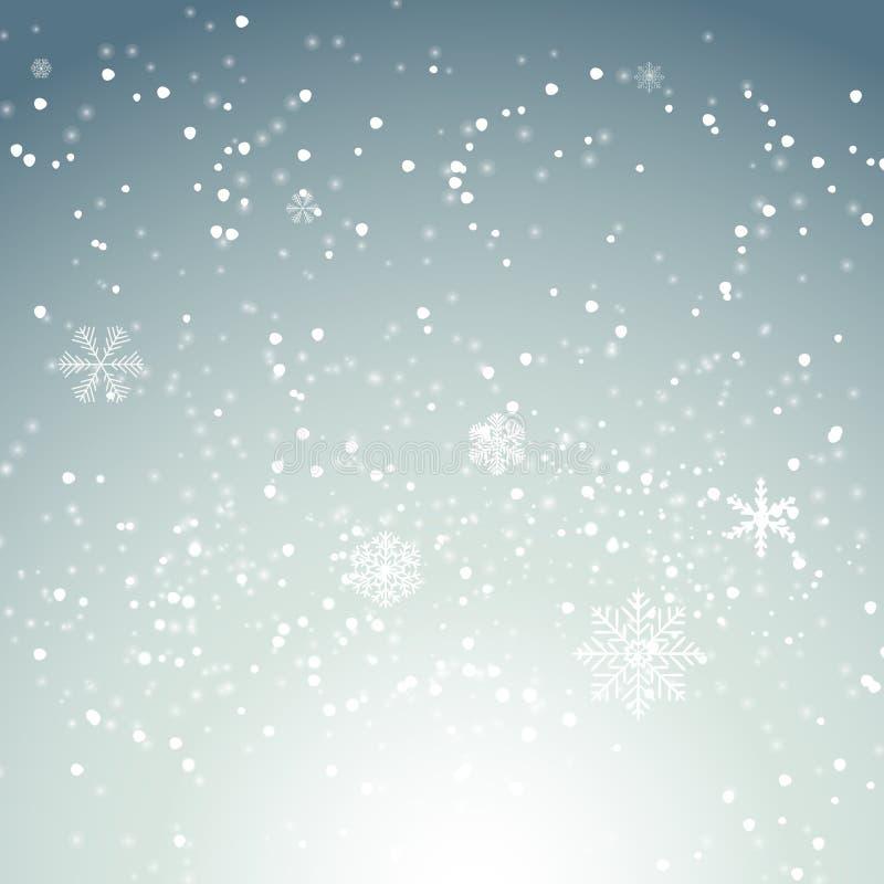 Abstrakcjonistyczni boże narodzenia i nowego roku Falowy tło z światłami Vec ilustracja wektor