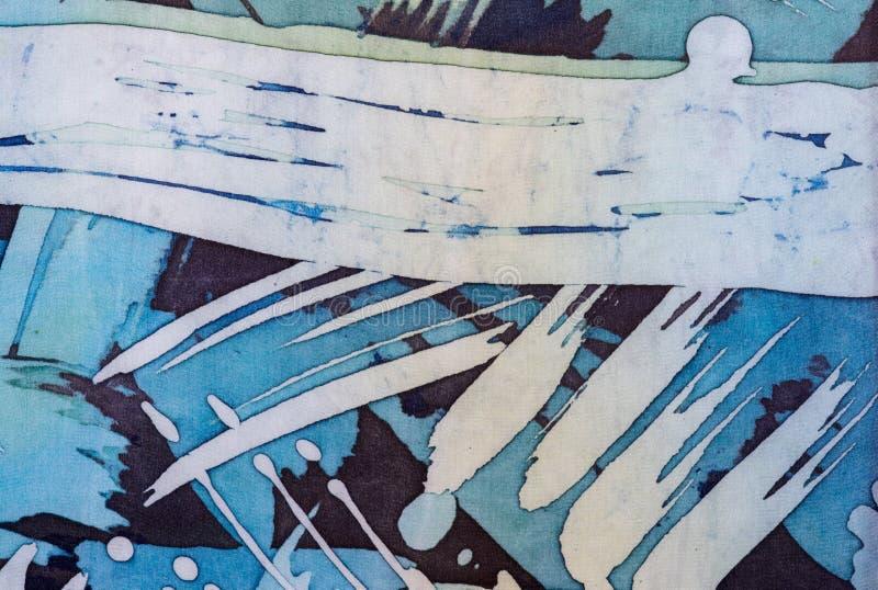 Abstrakcjonistyczni brushstrokes, czerep, gorący batik, tło tekstura, handmade na jedwabiu zdjęcia stock