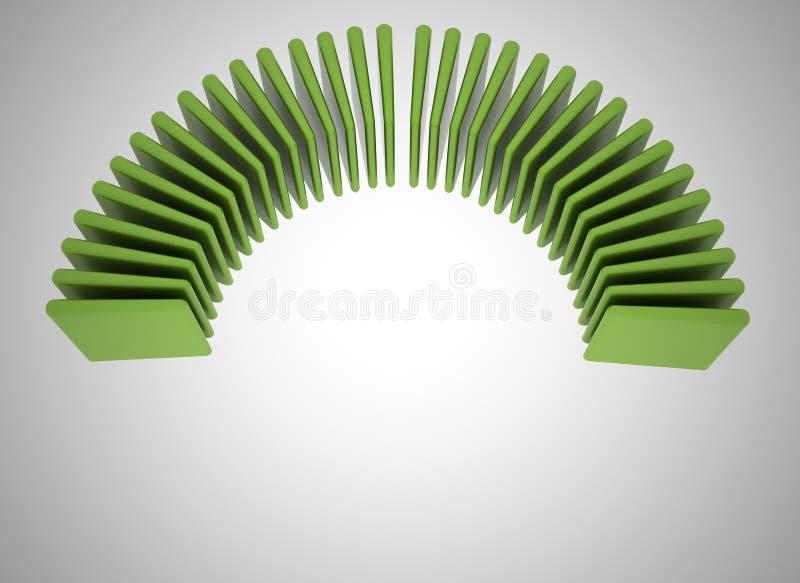 abstrakcjonistyczni chyłu zieleni kwadraty royalty ilustracja