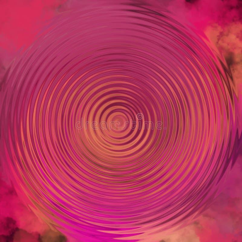 Abstrakcjonistyczni ciekli obrazów olejnych skutki na pastelowym tle Ślimakowata pastelowa grafika ilustracji