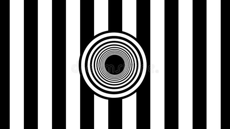 Abstrakcjonistyczni czarny i biały lampasy świadczenia 3 d ilustracji