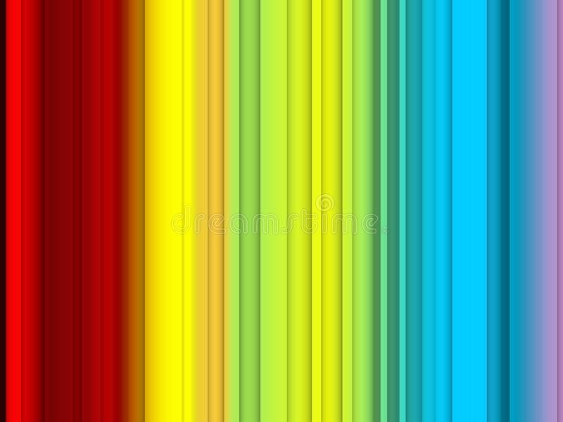 Abstrakcjonistyczni czerwoni żółci błękitów kolory, linie, iskrzasty tło, grafika, abstrakcjonistyczny tło i tekstura, royalty ilustracja